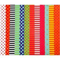 Glanspapir, mønstrete, 24x32 cm, 80 g, ass. farger, 50 ass. ark/ 1 pk.