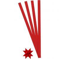 Stjernestrimler, L: 45 cm, B: 10 mm, dia. 4,5 cm, rød, 100 strimler/ 1 pk.