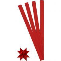 Stjernestrimler, L: 45 cm, dia. 6,5 cm, B: 15 mm, rød, 100 strimler/ 1 pk.