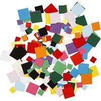 Kartongmosaikk, kvadratiske, str. 10+15+20 mm, 180 g/ 1 pk.