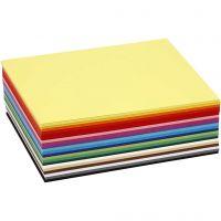 Creativ kartong, A6, 105x148 mm, 180 g, ass. farger, 300 ass. ark/ 1 pk.
