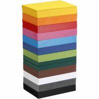 Creativ kartong, A6, 105x148 mm, 180 g, ass. farger, 12x100 ark/ 1 pk.