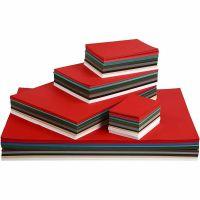 Julekartong, A2,A3,A4,A5,A6, 180 g, ass. farger, 1800 ass. ark/ 1 pk.