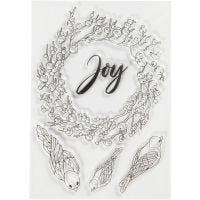 Stempelmotiver, joy, str. 10,5x15 cm, 1 ark