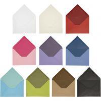 Konvolutt, konvolutt str. 11,5x16 cm, Innhold kan variere , 100 g, ass. farger, 30 pk./ 1 pk.