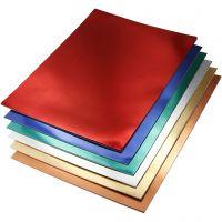 Metallkartong, A4, 210x297 mm, 280 g, ass. farger, 30 ass. ark/ 1 pk.
