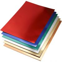 Metallkartong, A2, 420x600 mm, 280 g, ass. farger, 30 ass. ark/ 1 pk.