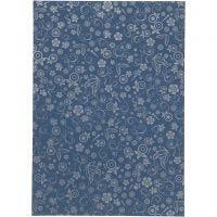 Papir, A4, 210x297 mm, 80 g, blå, 20 ark/ 1 pk.