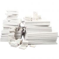 Malelerret , dybde 2 cm, hvit, 300 stk./ 1 pk.