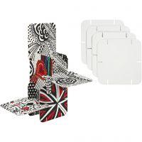 Puzzle Konstruksjonsbrikker, str. 9,3x9,3 cm, hvit, 20 stk./ 1 pk.