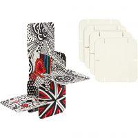 Puzzle Konstruksjonsbrikker, str. 9,3x9,3 cm, hvit, 200 stk./ 1 pk.