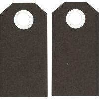 Manillamerker, str. 6x3 cm, 250 g, svart, 20 stk./ 1 pk.