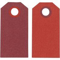 Manillamerker, str. 6x3 cm, 250 g, vinrød/rød, 20 stk./ 1 pk.