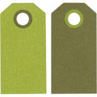 Manillamerker, str. 6x3 cm, 250 g, lime/mørk grønn, 20 stk./ 1 pk.
