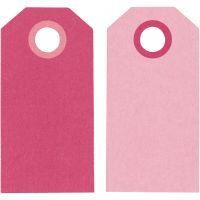 Manillamerker, str. 6x3 cm, 250 g, pink/rosa, 20 stk./ 1 pk.