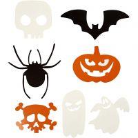 Halloweenfigurer, str. 5-10 cm, 180 g, 50 stk./ 1 pk.