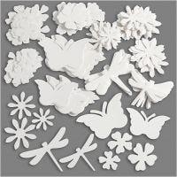Sommerfigurer, str. 4,5-12 cm, 240 g, hvit, 362 stk./ 1 pk.