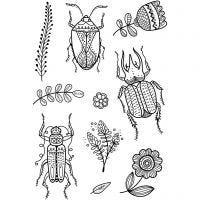 Silikonstempler, insekter, 11x15,5 cm, 1 ark