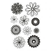 Silikonstempler, blomster, 11x15,5 cm, 1 ark