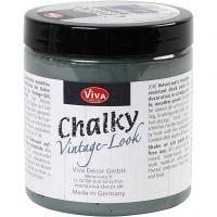 Chalky Vintage Look maling, dark green (702), 250 ml/ 1 boks
