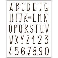 Stempelmotiver, alfabetet, 14x18 cm, 1 ark