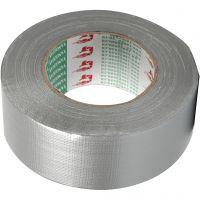 Lerretstape, B: 50 mm, sølv, 50 m/ 1 rl.