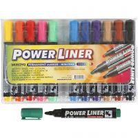Power Liner, strek 1,5-3 mm, ass. farger, 12 stk./ 1 pk.