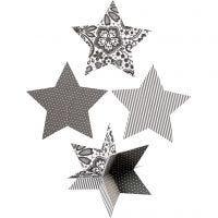 Stjerner 3D, dia. 15 cm, 300 g, 3 stk./ 1 pk.