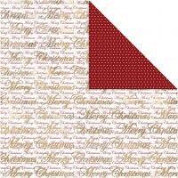 Designpapir, gledelig jul og prikker, 30,5x30,5 cm, 180 g, gull, 3 ark/ 1 pk.