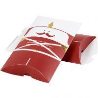 Gaveeske, nøtteknekker, str. 14,9x9,4x2,5 cm, 300 g, gull, rød, hvit, 3 stk./ 1 pk.
