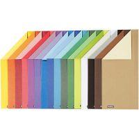 Color Bar rivekartong, A4, 210x297 mm, 250 g, 16 ass. ark/ 1 pk.