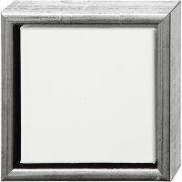 ArtistLine Canvas med ramme, dybde 3 cm, str. 19x19 cm, antikk sølv, hvit, 1 stk.