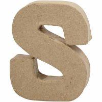 Bokstav, S, H: 10 cm, B: 8 cm, tykkelse 1,7 cm, 1 stk.