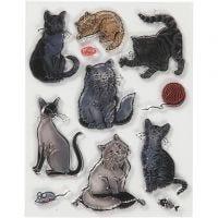 Stempelmotiver, katt, str. 14x18 cm, 1 ark