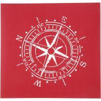 Screen stensil, kompass, 20x22 cm, 1 ark