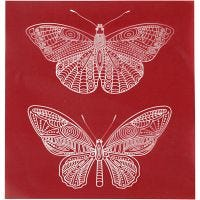 Screen stensil, sommerfugl, 20x22 cm, 1 ark