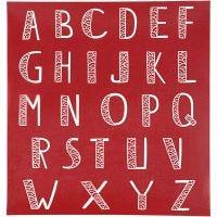 Screen stensil, alfabet, 20x22 cm, 1 ark