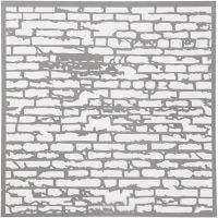 Stensil, murstein, str. 30,5x30,5 cm, tykkelse 0,31 mm, 1 ark