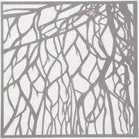 Stensil, røtter, str. 30,5x30,5 cm, tykkelse 0,31 mm, 1 ark