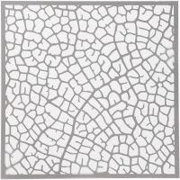 Stensil, blad, str. 30,5x30,5 cm, tykkelse 0,31 mm, 1 ark