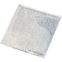 Limfolie, 10x10 cm, sølv, 30 ark/ 1 pk.