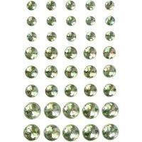 Rhinsten, str. 6+8+10 mm, grønn, 40 stk./ 1 pk.