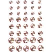 Rhinsten, str. 6+8+10 mm, pink, 40 stk./ 1 pk.
