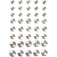 Rhinsten, str. 6+8+10 mm, krystall, 40 stk./ 1 pk.