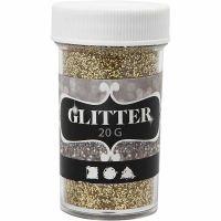 Glitter, gull, 20 g/ 1 boks
