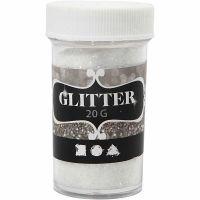 Glitter, hvit, 20 g/ 1 boks