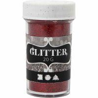 Glitter, rød, 20 g/ 1 boks