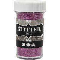 Glitter, pink, 20 g/ 1 boks