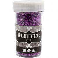 Glitter, lilla, 20 g/ 1 boks