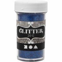 Glitter, blå, 20 g/ 1 boks